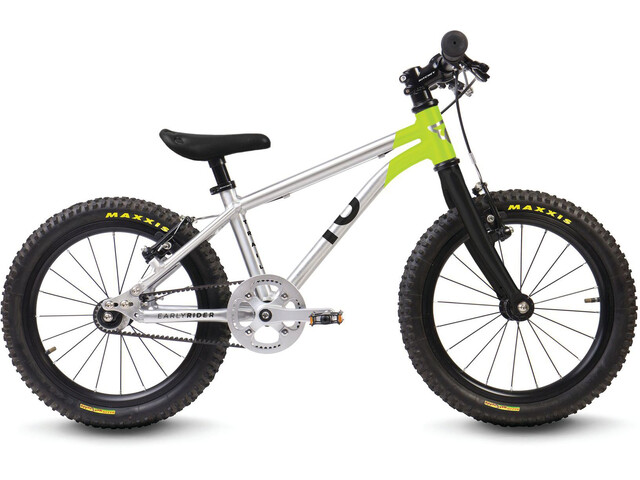 """Early Rider Belter Trail 16"""" Kinderrad brushed aluminum/lime"""
